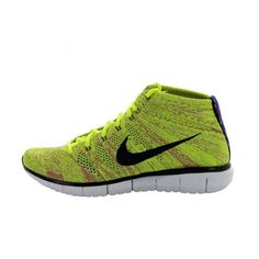 Nike - Nike Basket Free Flyknit Chukka  pas cher- 639700-700 Jaune