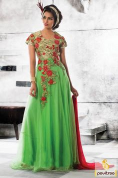#Sea Green #Santoon #Net #Gown for Occasion, ##Party Prom Dress, #gown, #weddinggown, #partywear, #floorlengthanarkali, #anarkalistyle, #bridalgown, #weddingbridalgown, #gownonline, #buygown, #gowndress, #evening gown, #short prom dresses, #partyweargownsonline, #evening gowns, #partygownsonline, #evening gowns. More :  Call / WhatsApp : +91-76982-34040  E-mail: info@pavitraa.in