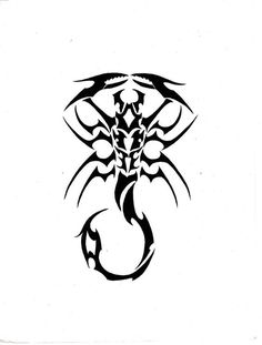 Black Tribal Scorpio flash tattoo by ghstkatt