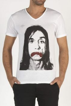 ELEVEN PARIS W10MTSS10 - IGGY POP WHITE  : T-shirt pour Homme