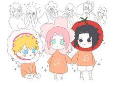 Naruto And Sasuke Kiss, Naruto Uzumaki Shippuden, Naruto Cute, Sakura And Sasuke, Anime Meme, Otaku Anime, Funny Naruto Memes, Naruto Teams, Naruto Comic