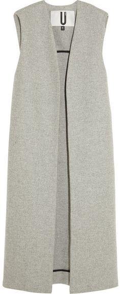 Unique Sleeveless Wool Blend Coat