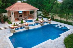 Riverbend Sandler Pools is one of the largest Dallas pool builders, with 30 years of experience designing superior custom pools for Dallas, Frisco & beyond. Swimming Pool Landscaping, Luxury Swimming Pools, Luxury Pools, Swimming Pool Designs, Dream Pools, Landscaping Ideas, Pool House Designs, Backyard Pool Designs, Backyard Pools