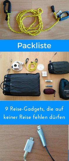 Diese 9 Gadgets sind auf unserer Reise-Packliste unverzichtbar. #packliste