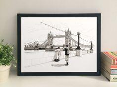 Tower Bridge 30 x 21 cm fine art print by thisismikehall on Etsy