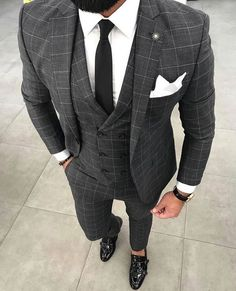 wedding suits men You need a watch thats - wedding Costume Gris, Mode Costume, Mens Fashion Blazer, Suit Fashion, Fashion Outfits, Fashion Hats, Fashion Edgy, Formal Suits, Men Formal