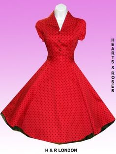 Robe Pin-Up Rétro 50's Rockabilly Pois Rouge