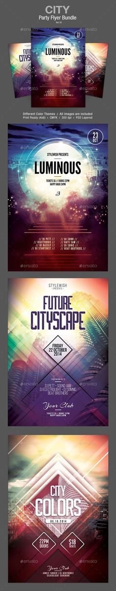 City Flyer Bundle Template PSD | Buy and Download: http://graphicriver.net/item/city-flyer-bundle-vol10/8988268?WT.ac=category_thumb&WT.z_author=styleWish&ref=ksioks