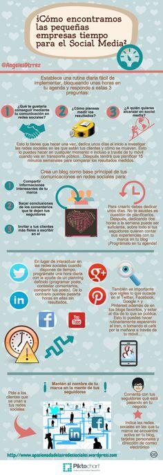 ¿De dónde saca tiempo una pequeña empresa para Redes Sociales? #infografia