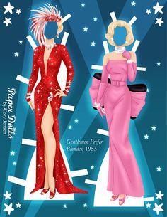 Marilyn Monroe Paper Dolls by Cory 3
