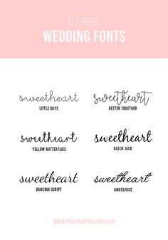 6 Free Wedding Fonts und 8 kreative Online Ressourcen für deine Hochzeit
