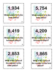 What Number? Place Value Game