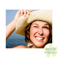 Apple Organics — SKINCARE TIP: Squinting in the sun can contribute...