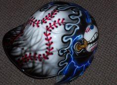AIRBRUSHED BATTING HELMET NEW BASEBALL SOFTBALL PERSONALIZED HELMET  | Sporting Goods, Team Sports, Baseball & Softball | eBay!