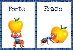 Atividades Escolares: Fichas para trabalhar os opostos School Colors, Pre School, Classroom Decor, Marines, Homeschool, Parenting, Teaching, Activities, Education