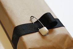 less is more gift wrapping idea