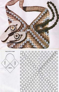 Transcendent Crochet a Solid Granny Square Ideas. Inconceivable Crochet a Solid Granny Square Ideas. Free Crochet Bag, Mode Crochet, Crochet Shell Stitch, Crochet Tote, Crochet Handbags, Crochet Purses, Crochet Granny, Diy Crochet, Crochet Diagram