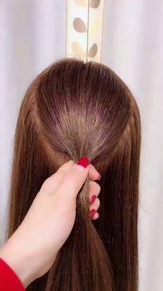 Hairstyles For School, Girl Hairstyles, Braided Hairstyles, Hair Upstyles, Long Hair Video, Wedding Guest Hairstyles, Hair Videos, Balayage Hair, Short Hair Cuts