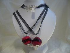 7B Collier Penso 1 perle rouge et noire | Flickr: partage de photos!