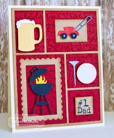 Cards by Kerri: #1 dad | Taylored Expressions May Sneak Peeks: Argyle Cutting Plate and Punny Man