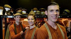 Nick Barlow, Sarah Nelson and Nick Eaton: the puppeteers in the Australian run of War Horse