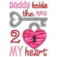 Daddy's Heart Applique