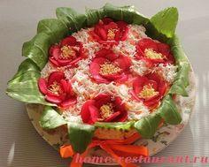 салат цветочный горшочек