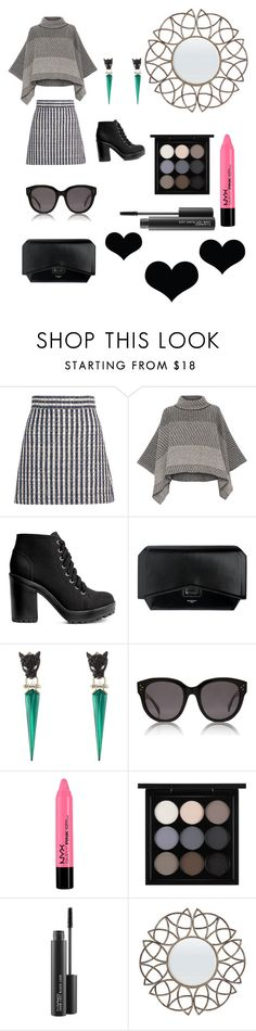 """""""Untitled #27"""" by geniusmermaid ❤ liked on Polyvore featuring Miu Miu, Piazza Sempione, H&M, Givenchy, Alexis Bittar, CÉLINE and MAC Cosmetics"""