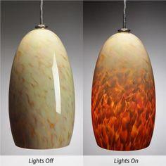 Caramel Corn Blown-glass Pendant Light, $399 on www.artisancraftedlighting.com