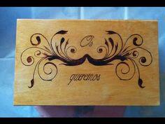 Pirograbado en caja de madera DIY wooden box pyrography - YouTube