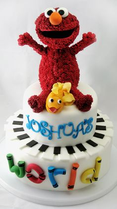 Adorable Elmo Cake