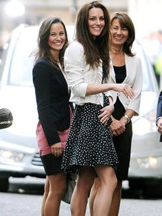 The Middleton three the night before Kate's wedding.