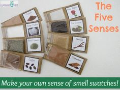 The Five Senses - Sense of Smell Activity These were a hit with my class!  The kids loved to smell the different swatches as it gave them hands-on tactile objects to explore and manipulate.