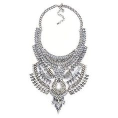 Vintage Silver/Gold Long Boho Statement Necklace Bohemian Accessories