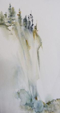 Watercolour cliff