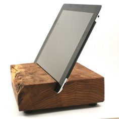 Wood iPad Stand from Block & Sons Co Article No by BlockandSonsCo