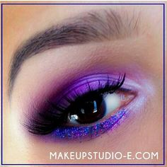 So lovely! Eva_makeupartist created this soft and pretty EOTD using Sugarpill Poison Plum eyeshadow. Beautiful blending, and the glitter just pulls everything together perfectly!
