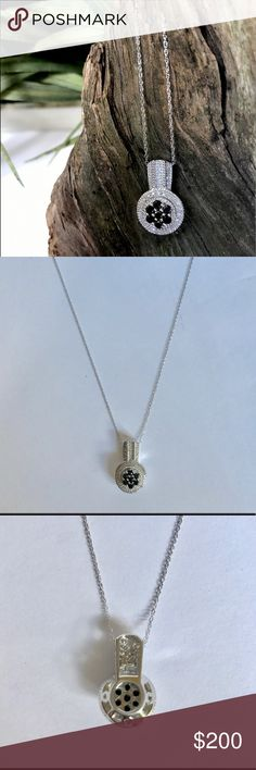 .5 carat Black & White Diamond Pendant Necklace 1/2 carat Black and White Diamond Pendant Necklace for sale! This gorgeous necklace is just as rare as it is beautiful! A must-have for any wardrobe! Jewelry Necklaces