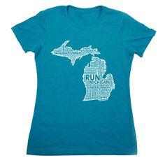 Women's Everyday Runners Tee Michigan State Runner