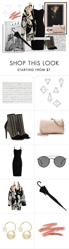 """""""Back in Time"""" by annaruto ❤ liked on Polyvore featuring Brewster Home Fashions, Umbra, LC Lauren Conrad, MaxMara, Ray-Ban, Witchery, Anja, black and bodycon"""