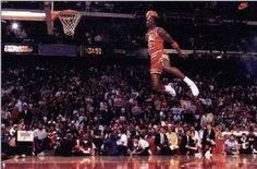 An awesome poster of Michael Jordan getting some massive air with a slam dunk from the foul line! The greatest basketball player of all time. Check out the rest of our amazing selection of Michael Jordan posters! Need Poster Mounts. Michael Jordan Slam Dunk, Michael Jordan Basketball, Basketball Posters, Sports Basketball, Xavier Basketball, Basketball Playoffs, Basketball Rules, Sports Posters, Basketball Uniforms