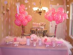 Pink Fairy Themed 1st Birthday Party Girl Birthday Party Ideas