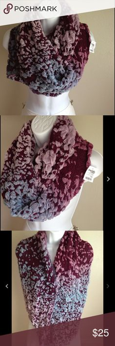 """1 Hour Sale! Infinity Scarf Wrap NWT B10 Multi Colored Infinity Scarf  Scrunch - This scarf will definitely keep you warm  16"""" Wide x 33"""" Long  Never Worn - Brand New! Charlotte Russe Accessories Scarves & Wraps"""