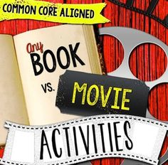 Any Book & Movie Comparison Reader's Notebook Activities - Common Core RL.7 for middle and high school