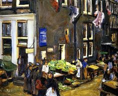 Street in the Jewish Quarter of Amsterdam, Oil On Canvas by Max Liebermann Germany) Amsterdam, Degenerate Art, Jewish Art, Art Database, Manet, Rue, Painting & Drawing, Artist Painting, New Art