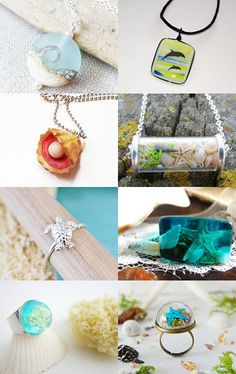 sea jewerly by Татьяна Онищенко on Etsy--Pinned with TreasuryPin.com