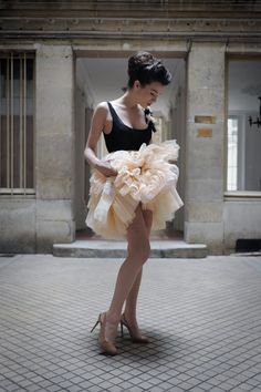 Jupe Tutu - rose poudré - Meryl Suissa Paris - Carnet de Mode