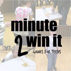 Minute to Win it games for Teens
