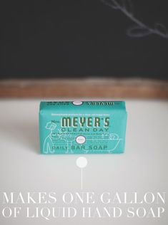 DIY Mrs. Meyers Liquid Hand Soap