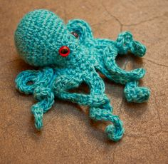 realistic crochet octopus by Ruby Submarine